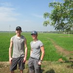 Me and Sam in the rice fields