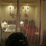 Rooms have mosquito nets.