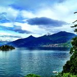 The view of Lake Como from the hostel