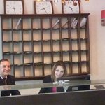 Front desk with a friendly staff!