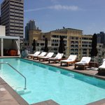 The beautiful rooftop pool