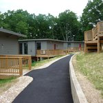 walkway to couple's cabins 1-3