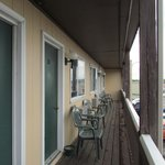 Outer second floor balcony