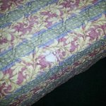 A hole in the bedspread may be OK at home ...but at a hotel, really ?! Can't they do any better