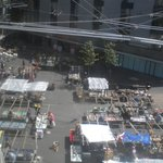 view from the room on the antiques market on Bermondsey square (Fridays)