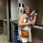 The wife! Handbags & Guns!