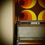 Great jukebox in the retro lounge