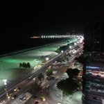 Night time view over Copacabana