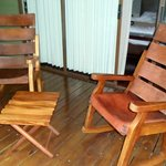 Comfortable rocking chairs on each porch!