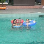 3 of us in the pool...