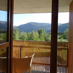 balcony and mountains
