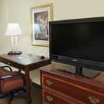 Guest room desk and TV