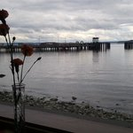 view from one of the many waterfront restaurants in Port Townsend.