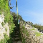 """famous stairs"" which lead to and from Amalfi Center"