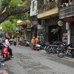 The street in front of Hanoi Old Centre Hotel.