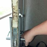 door that had been attempted for breakin