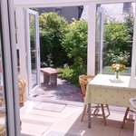 The Garden Studio Conservatory to Private Garden, available self-catering or on a B&B basis