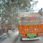 Pakistani Trucks carrying stones
