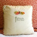 Friends pillow in room