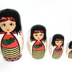 stack of maori dolls