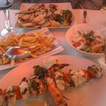Monkfish kebab & mixed fish