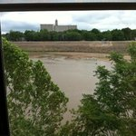 View of Kansas River form our room on 3rd floor
