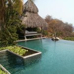 The freshwater pool and palapa with terrycloth lounge