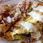Italian omelette with hash browns
