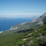 Makarska from Mount Biokovo
