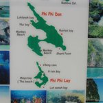 Tourist map of Koh PP Lay