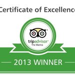 Tripadvisor award, thanks to all our reviewers, why not join them ?