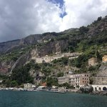 View of the hotel from the sea, Amalfi