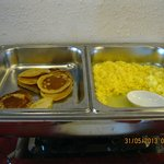 pancakes and scrambled eggs