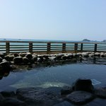The onsen facing Pacific Ocean