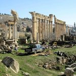 Ongoing excavation at Baalbek