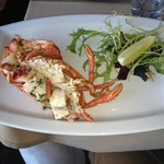 Lobster as a side dish - with garlic butter - highly recommended