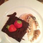Dessert: chocolate brownie