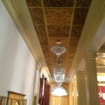 Tin ceilings in the hallway.