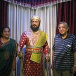 HARAGOPAL AND VIJAYA LAKSHMI WITH CHATHRAPATHI SIVAJI @ WAX MUSEUM