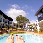 view from my lounger looking towards building 1