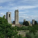 View from observatory tower in La Rocca in San Gimignano