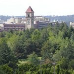 Our view of Downtown Spokane Shopping/Riverfront Park