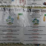JJ's Happy Hour Menu
