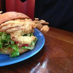 Softshell crab sandwich - look at the size of that one!