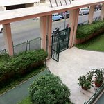 For extra security, they lock the front gate to the hotel, not that it is needed in such a safe