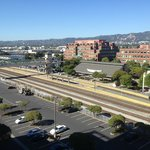 View of Emeryville Amtrak from my room balcony