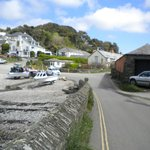 Port Gaverne Hotel on the left - try the Betty Stoggs!!