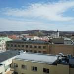 view from room (you can see Gediminas castle and Cathedral)