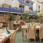Enjoy dinner or breakfast in our Garden restaurant
