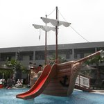 pirate ship in childrens pool opposite block 5000